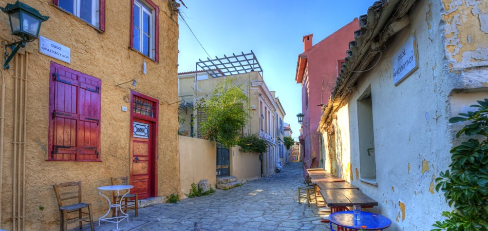 Plaka area near Acropolis ,Athens,Greece