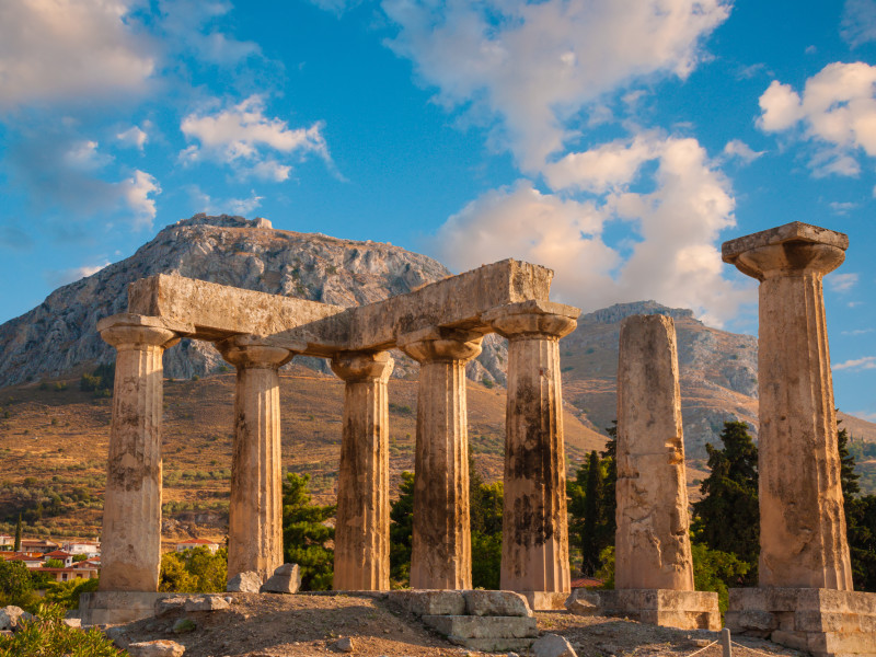 Temple of Apollo Ancient Corinth Original