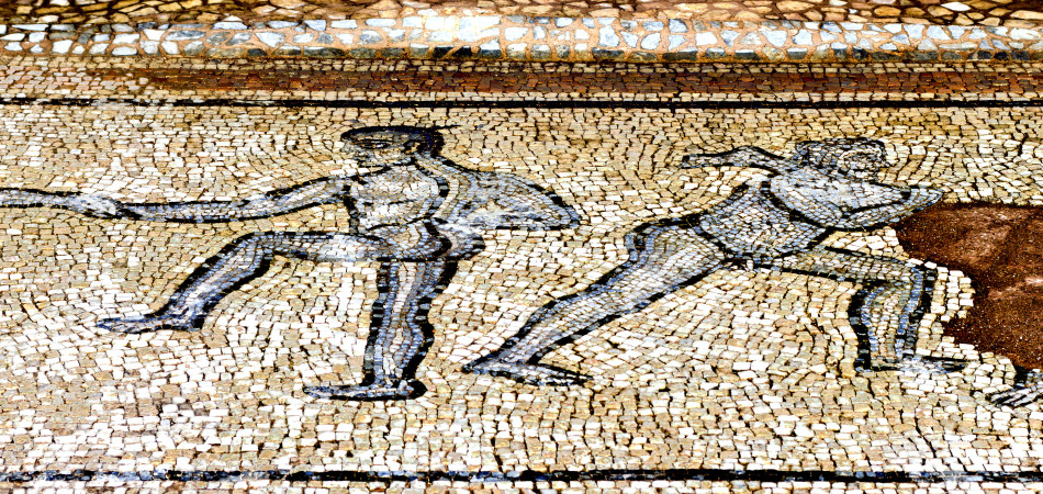 mosaic found at ancient Dion of Greece