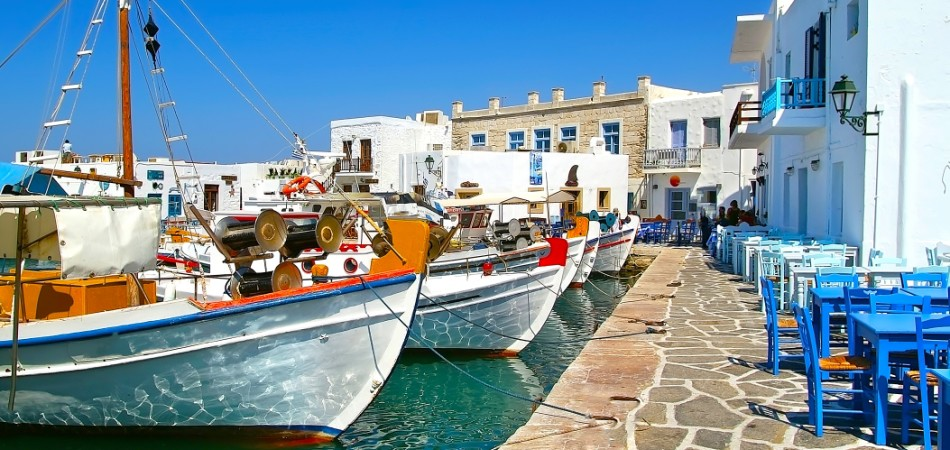 Greek fishing village in Paros Naousa