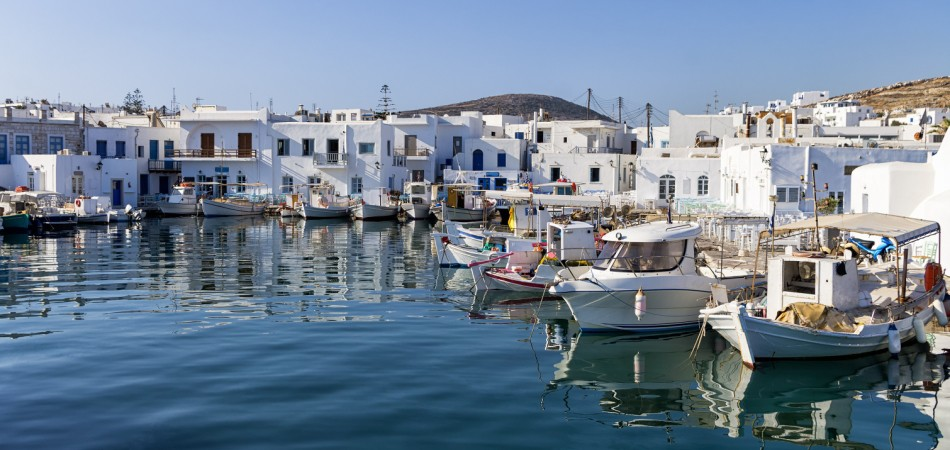 Small port in Naoussa village, Paros island