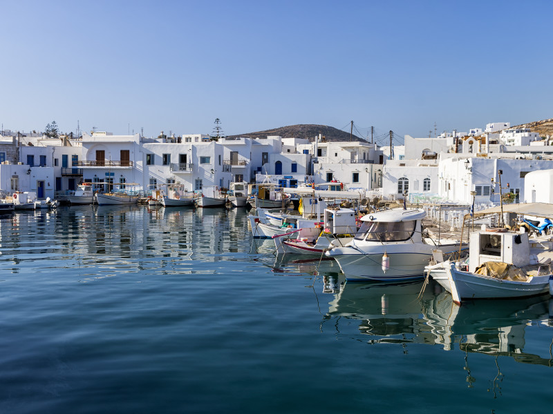 Small port in Naoussa village, Paros island, Greece